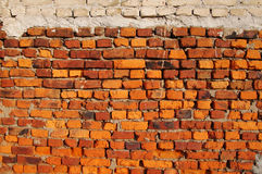 Wall from an old red brick. Stock Photography