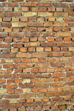 Wall of old red bricks Stock Photos