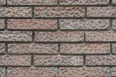 Wall of old red bricks with a pattern royalty free stock images