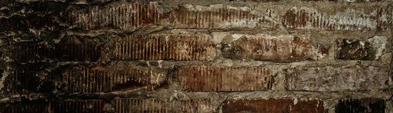 Wall of old red bricks Stock Image