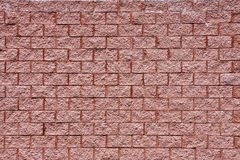 Wall of Old Red Textured Brick Royalty Free Stock Photo