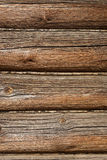 Wall. Of a old Russian wooden house Izba Stock Image