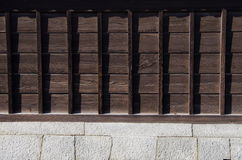 The wall of the old samurai residences Royalty Free Stock Photos