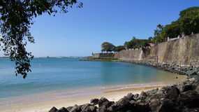 Wall of Old San Juan, Caribbean, Puerto Rico. Royalty Free Stock Photography