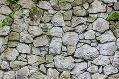 Wall of old stone. Texture laid stone surface Royalty Free Stock Image