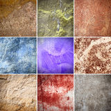 Wall. Old texture of colorful wall collage Royalty Free Stock Photo