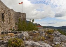 The wall of Old Town Bar, Montenegro royalty free stock image