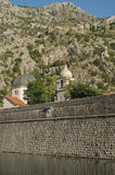 Wall of the old town of Kotor. Old town of Kotor, Montenegro Stock Photo