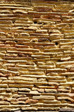 Wall from old traditional roof tile Royalty Free Stock Images