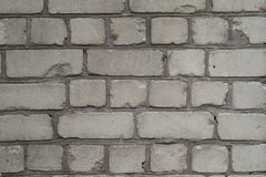 Wall of old white bricks Royalty Free Stock Image