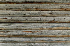 Wall of old wooden cabin. Dark texture Royalty Free Stock Photography