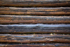Wall of a old wooden house Stock Photos