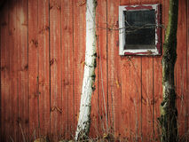 Wall of the old wooden house Stock Photos