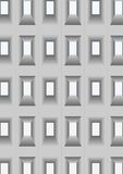 Wall with openings for windows. Royalty Free Stock Photos