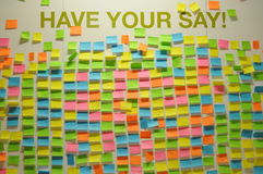 Wall of Opinions stock images