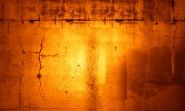 Wall. Orange grunge textured wall background Royalty Free Stock Photos