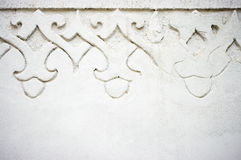 Wall with ornament Royalty Free Stock Photography