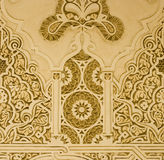 Wall ornaments. In arab models, arabesque royalty free stock photography