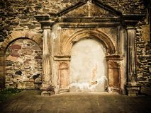 Wall  with ornaments. Wall of historical church with ornaments Stock Image