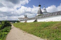 Wall of orthodox Ferapontov Monastery Royalty Free Stock Photo