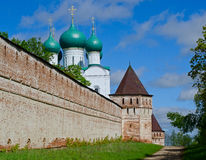 Wall of the orthodox monastery 17 of an eyelid Royalty Free Stock Photography