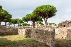Wall in Ostia antica ruins. In the site Royalty Free Stock Photography