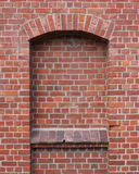 Wall out of red bricks Stock Photography