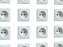 Wall outlet Stock Photo