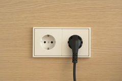 Wall outlet Royalty Free Stock Photography