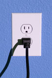 Wall outlet and plug Royalty Free Stock Images