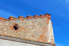 Wall over blue sky in Medzhybizh, Ukraine Royalty Free Stock Photo