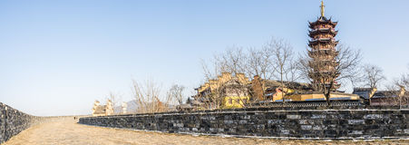 Wall and pagoda Stock Photography