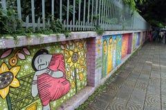 Wall paining in bangladesh Stock Photo