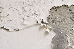 Wall with the paint coming off Royalty Free Stock Photos
