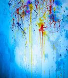Wall with paint splashes Royalty Free Stock Photography