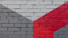 Wall Of Painted Brick Royalty Free Stock Photo
