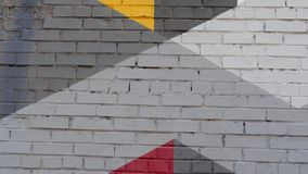 Wall Of Painted Brick Stock Images