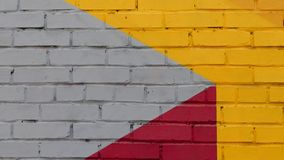 Wall Of Painted Brick Stock Image