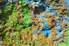 Wall painted in different paint. Royalty Free Stock Photos