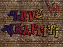 Wall painted with graffiti Royalty Free Stock Photography