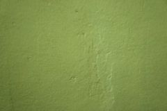 Wall painted green paint. Royalty Free Stock Images