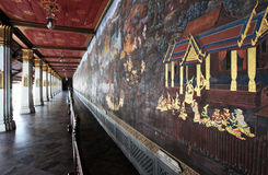 Wall Painted Wat Phra at Kaew Grand palace Royalty Free Stock Photo