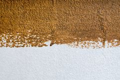 Wall painted white and brown colors texture Stock Photo