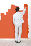 Wall painter Royalty Free Stock Images