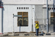 Wall painter Stock Images