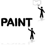 Wall painter Royalty Free Stock Photography