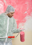 Wall painter portrait Stock Images