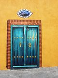 Wall painting. Painting of a door on street wall Stock Images