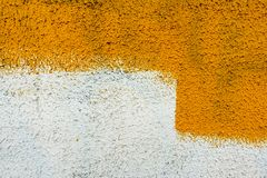 Wall painting abstract texture, yellow for graphic design. Wall painting abstract texture ,the feel, appearance, or consistency of a surface or a substance stock photo