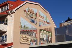 Wall painting in Boden. A wall painting in the Boden with motif from Björknäsparken Stock Photography